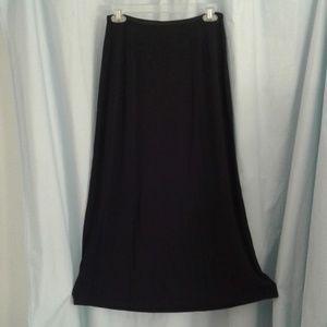 J Jill M black maxi skirt